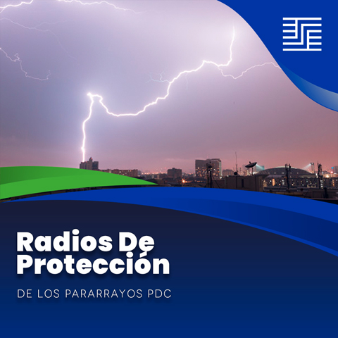 Radio de protección de los pararrayos PDC