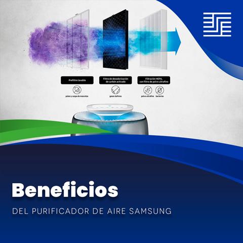 Beneficios del purificador de aire Samsung
